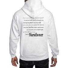 I Am a Marathoner Hoodie