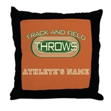 Track and Field Throws Throw Pillow