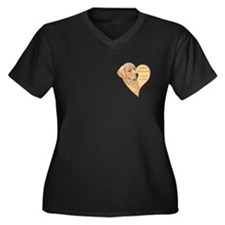 heart of gold Women's Plus Size V-Neck Dark T-Shir