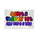 Adopt Shelter Pet Rectangle Magnet (100 pack)
