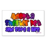 Adopt Shelter Pet Rectangle Decal
