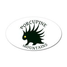 Porcupine Mountains 22x14 Oval Wall Peel