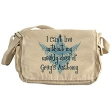 Can't Live Without Grey's Messenger Bag