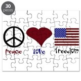 PEace Love Freedom Puzzle