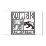 Zombie Honey Badger Car Magnet 20 x 12