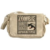 Zombie Honey Badger Messenger Bag