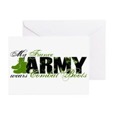 Fiance Combat Boots - ARMY Greeting Cards (Pk of 1