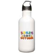 Amber is Due in October Water Bottle