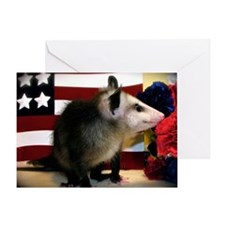 Possum Red White Blue Card
