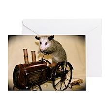 Possum on Tractor Card