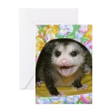 Possum Flowers Card