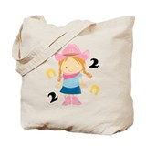 2nd Birthday Cowgirl Tote Bag