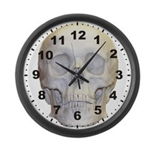 Human Skull Large Wall Clock