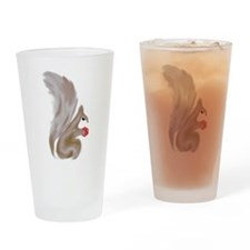 Painted Squirrels (red) Drinking Glass