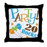 20 Rocks 20th Birthday Throw Pillow