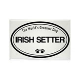 World's Greatest Irish Setter Rectangle Magnet