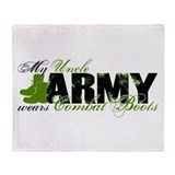 Uncle Combat Boots - ARMY Throw Blanket