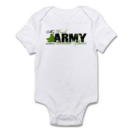 Uncle Combat Boots - ARMY Infant Bodysuit