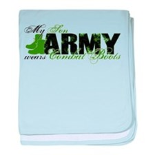 Son Combat Boots - ARMY baby blanket