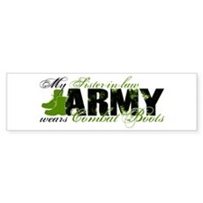 Sis Law Combat Boots - ARMY Bumper Sticker