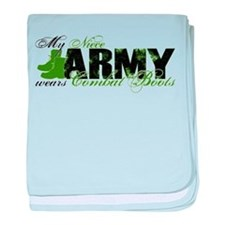 Niece Combat Boots - ARMY baby blanket