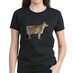 Brown Swiss Dairy Cow Women's Dark T-Shirt