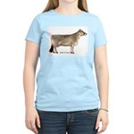 Brown Swiss Dairy Cow Women's Light T-Shirt