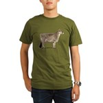 Brown Swiss Dairy Cow Organic Men's T-Shirt (Dark)