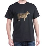 Brown Swiss Dairy Cow Dark T-Shirt