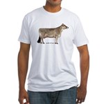 Brown Swiss Dairy Cow Fitted T-Shirt