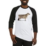 Brown Swiss Dairy Cow Baseball Jersey