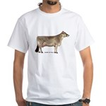 Brown Swiss Dairy Cow White T-Shirt