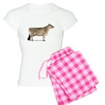 Brown Swiss Dairy Cow Women's Light Pajamas