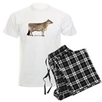Brown Swiss Dairy Cow Men's Light Pajamas