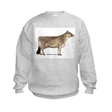 Brown Swiss Dairy Cow Sweatshirt