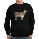 Brown Swiss Dairy Cow Sweatshirt (Dark)