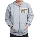Brown Swiss Dairy Cow Zip Hoodie