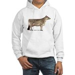 Brown Swiss Dairy Cow Hooded Sweatshirt