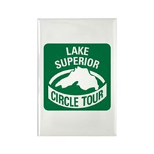 Lake Superior Circle Tour Rectangle Magnet