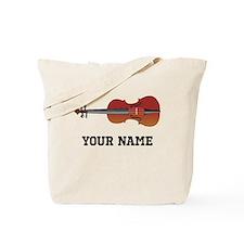 Personalized Violin Tote Bag
