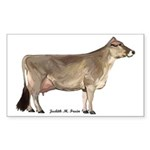 Brown Swiss Dairy Cow Sticker (Rectangle 10 pk)