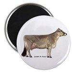 Brown Swiss Dairy Cow Magnet