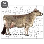 Brown Swiss Dairy Cow Puzzle