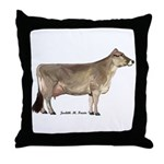 Brown Swiss Dairy Cow Throw Pillow
