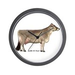Brown Swiss Dairy Cow Wall Clock