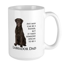 Chocolate Lab Dad Mug