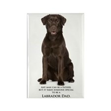 Chocolate Lab Dad Rectangle Magnet