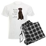Chocolate Lab v. Wife Men's Light Pajamas