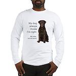 Chocolate Lab v. Wife Long Sleeve T-Shirt