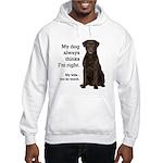 Chocolate Lab v. Wife Hooded Sweatshirt